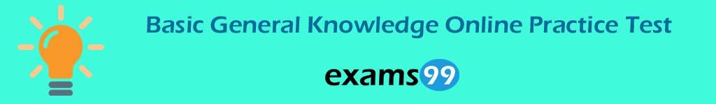 Basic General Knowledge Online Practice Test