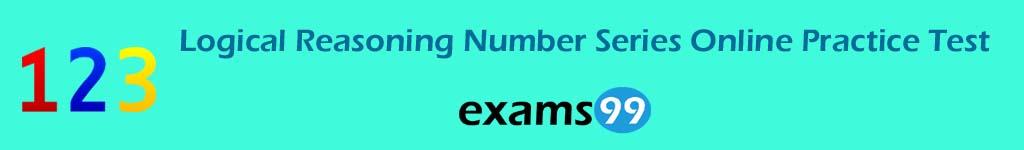 Logical Reasoning Number Series Online Practice Test