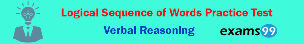 Logical Sequence of Words Practice Test