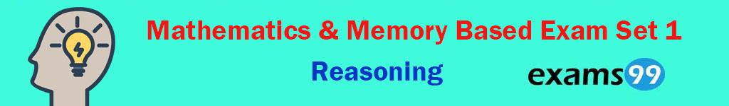 Mathematics & Memory Based Exam Set 1